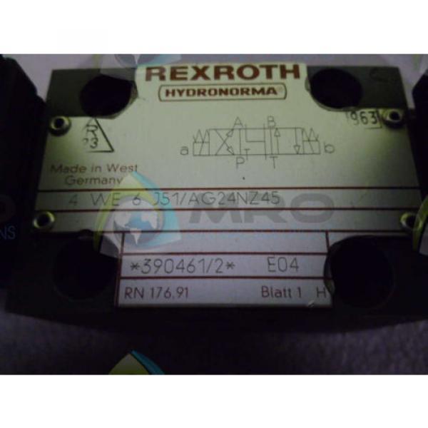 REXROTH Singapore Mexico 4WE6J51/AG24NZ45 VALVE *NEW NO BOX* #1 image