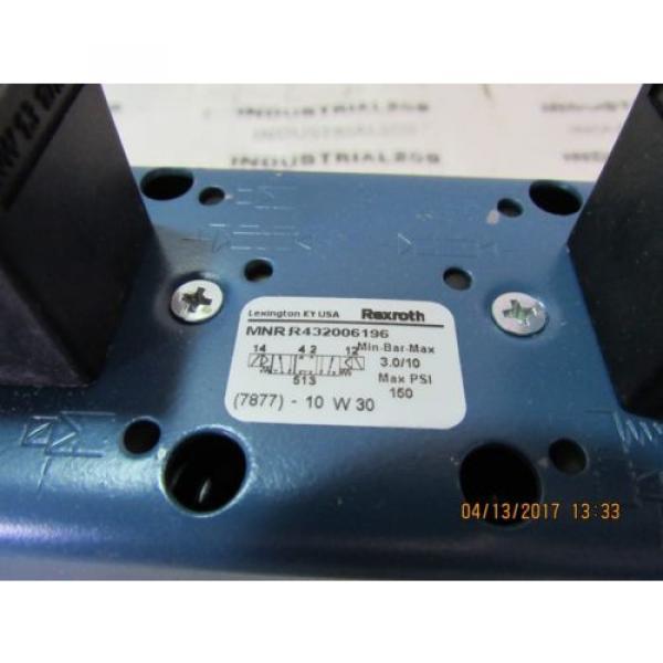 REXROTH CERAM VALVE R432006196 Origin #3 image