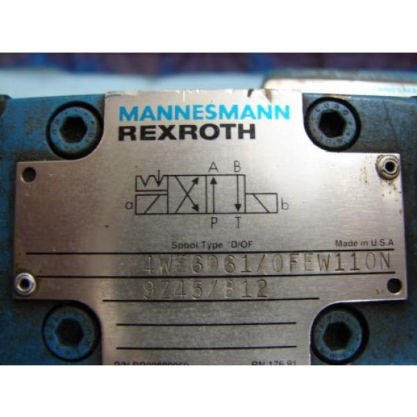 REXROTH DIRECTIONAL VALVE # H 4WEH22HD74/OF6EW110N9 /  4WE6D61/OFEW11ON9Z45/B12 #3 image