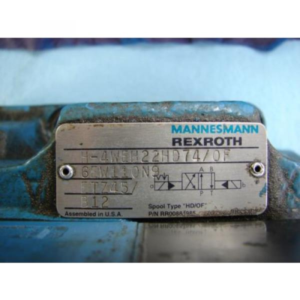 REXROTH DIRECTIONAL VALVE # H 4WEH22HD74/OF6EW110N9 /  4WE6D61/OFEW11ON9Z45/B12 #4 image