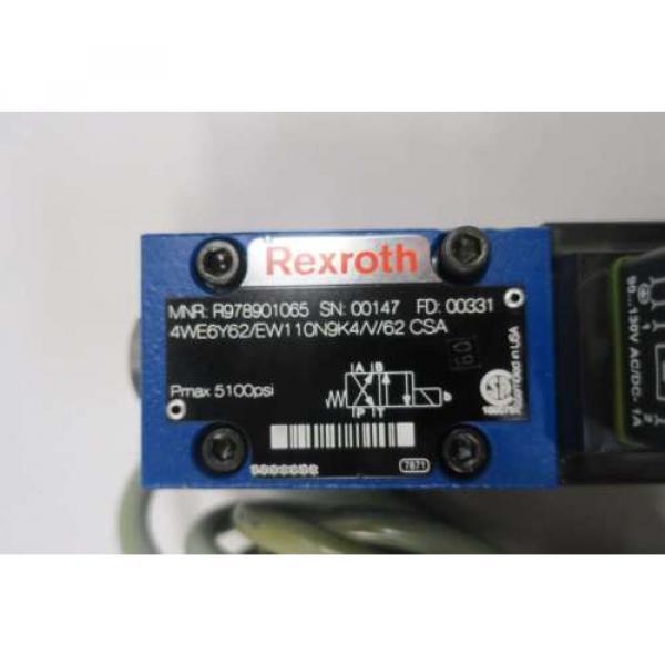 REXROTH 4WE6Y62/EW110N9K4/V/62 120V-AC SOLENOID HYDRAULIC VALVE D549964 #6 image