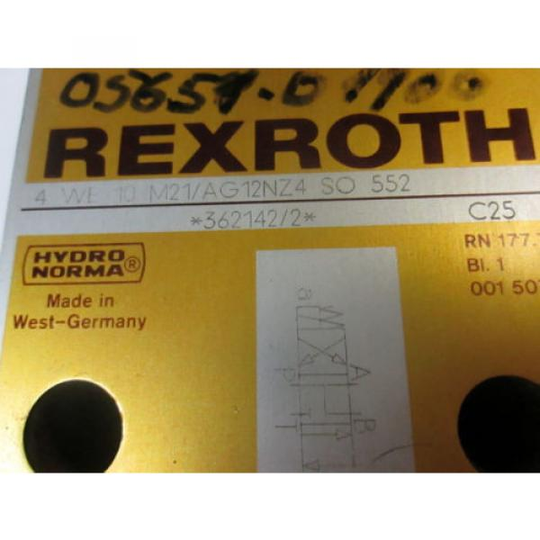 Rexroth Directional Control Valve 4-WE-10-M21/AG12NZ4 #2 image