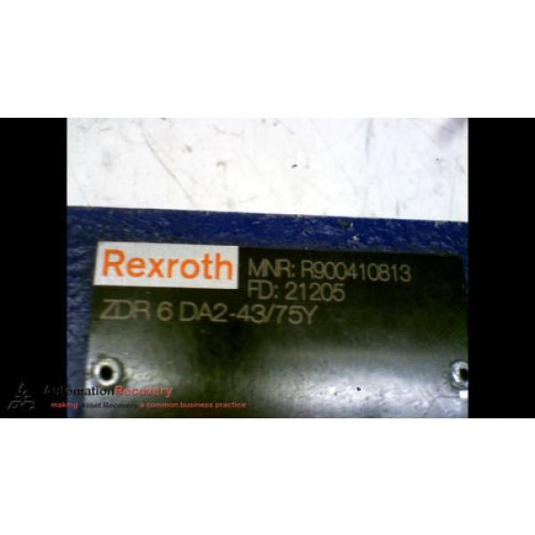REXROTH ZDR 6 DA2-43/75Y HYDRAULIC VALVE #167154 #2 image