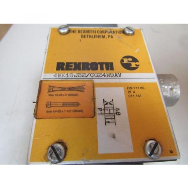 REXROTH HYDRAULIC VALVE 4WE10J32/CG24N9AV 4WE10J32CG24N9AV GZ63-0-A 241 24V DC #2 image