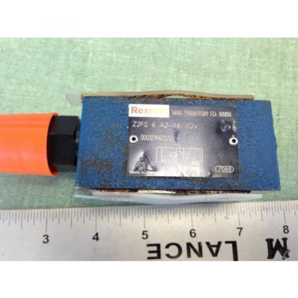 REXROTH HYDRAULIC CHECK VALVE  Z2FS 6-A2-44/2QV R900439389 FD 88806 #2 image