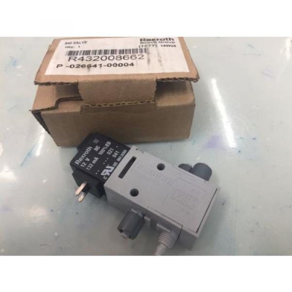 REXROTH R432008662 P-026641-004 4way Single Solenoid 12V DC Pneumatic Valve #1 image