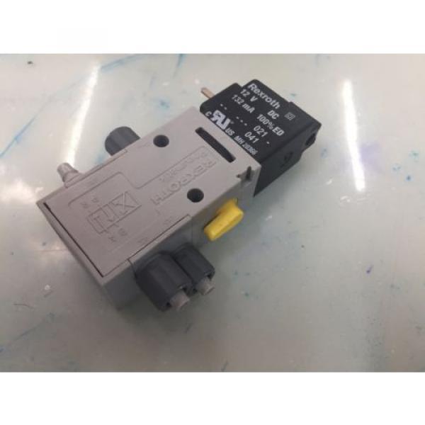 REXROTH R432008662 P-026641-004 4way Single Solenoid 12V DC Pneumatic Valve #2 image