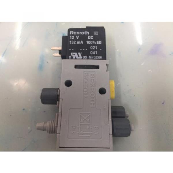 REXROTH R432008662 P-026641-004 4way Single Solenoid 12V DC Pneumatic Valve #3 image