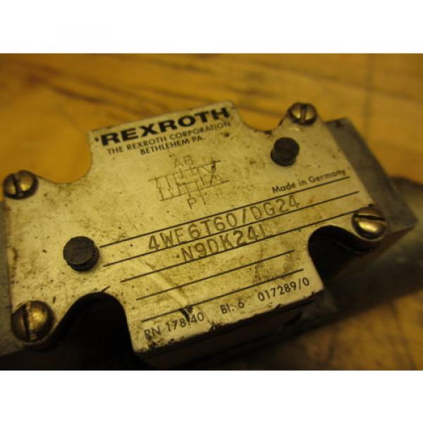 Rexroth 4WE6T60/DG24N9DK24L Hydraulic Directional Valve 24VDC Hydronorma #2 image