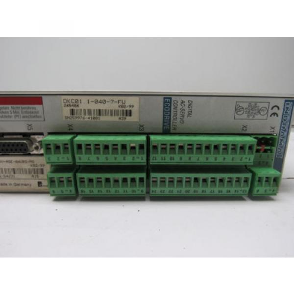 Rexroth France Japan Indramat DKC01.1-040-7-FW Eco Drive W/Manual #7 image