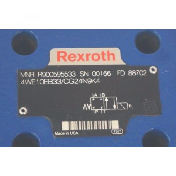 Origin REXROTH 4WE10EB33/CG24N9K4 VALVE R900595533 #2 image