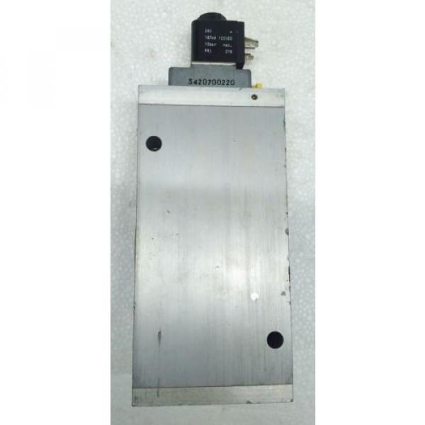 3723572220 REXROTH PNEUMATICS 3/2 WAY SOLENOID VALVE 24VDC Aventics Wabco Marine #2 image