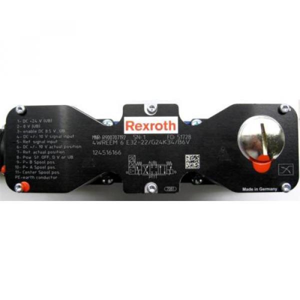 origin Rexroth 4WREEM6E32-22/G24K34/B6V Proportional Valve R900707192 w/Warranty #2 image