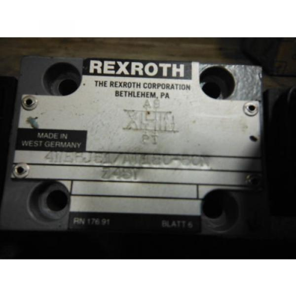 REXROTH Canada Canada VALVE 4WE6J51/AW120-60N ~ USED #2 image