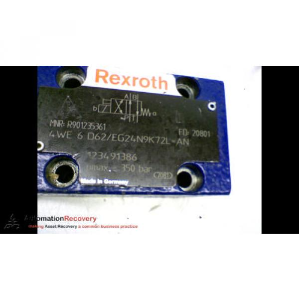 REXROTH 4WE 6 D62/EG24N9K72L HYDRAULIC VALVE PMAX= 350BAR #167155 #3 image