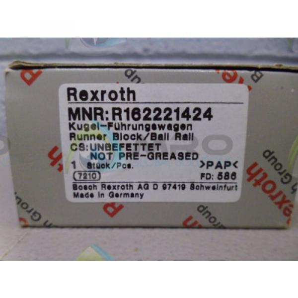 REXROTH Japan Germany R162221424 RUNNER BLOCK *NEW IN BOX* #1 image