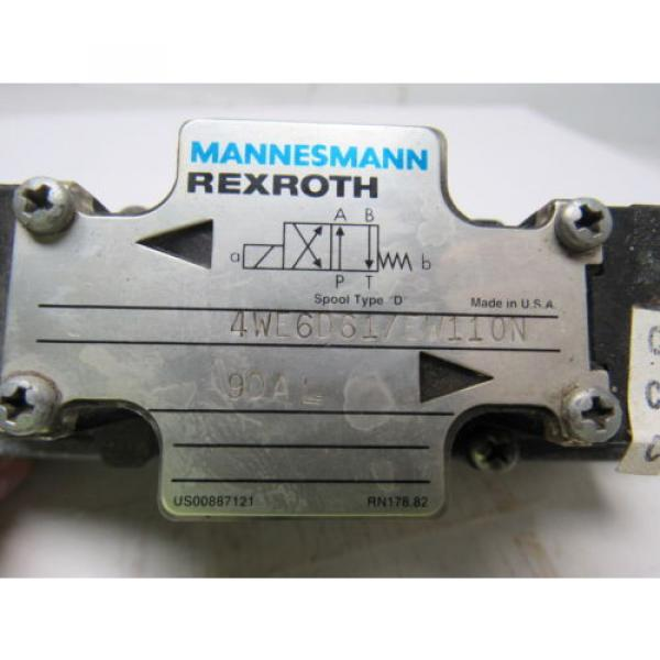 Mannesmann Rexroth 4WE6D61/EW110N Double Solenoid Operated Directional Valve #11 image