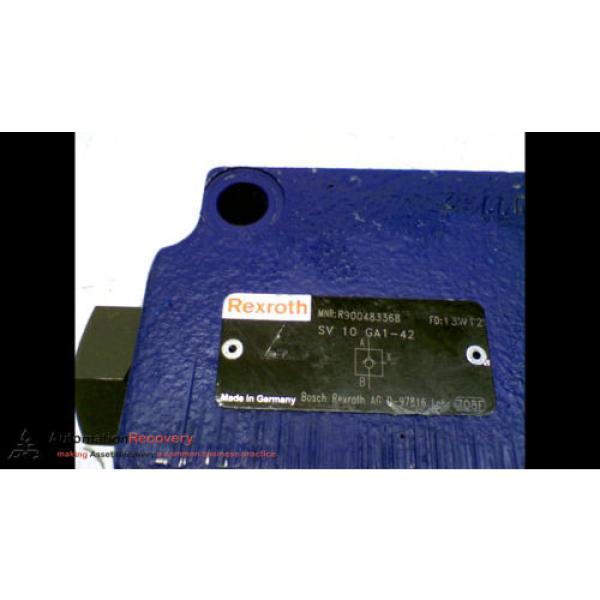 REXROTH SV 10 GA1-42 HYDRAULIC VALVE CHECK PRESSURE RELIEF #167150 #3 image