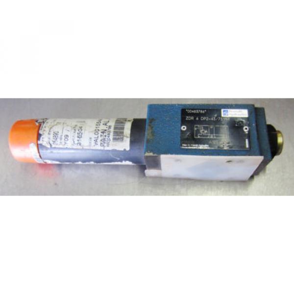 Rexroth ZDR-6-DP2-43/75YM Hydraulic Valve ZDR6DP2-43/75YM #1 image