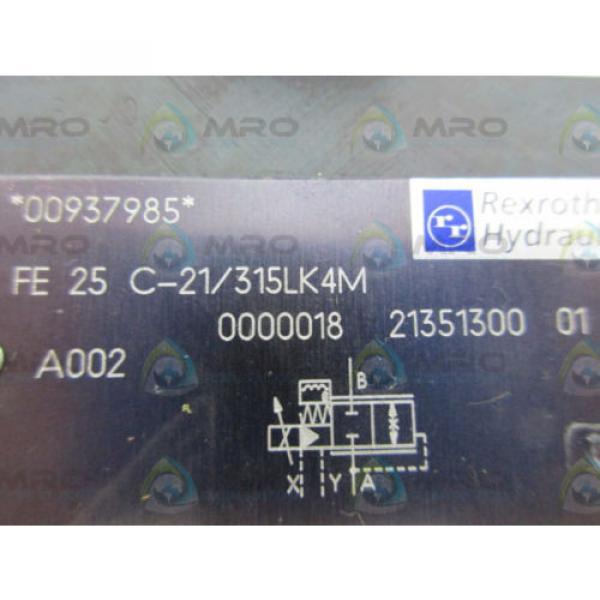 REXROTH FE25C-21/315LK43 FLOW CONTROL VALVE Origin NO BOX #4 image