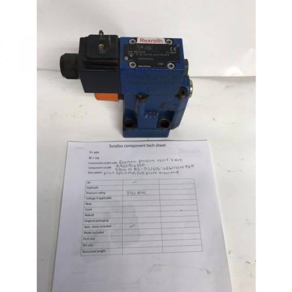 Rexroth pressure relief valve R900906350 #1 image
