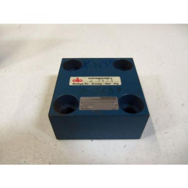REXROTH HYDRAULIC VALVE LFA 40D-62/F AS PICTURED  USED #1 image