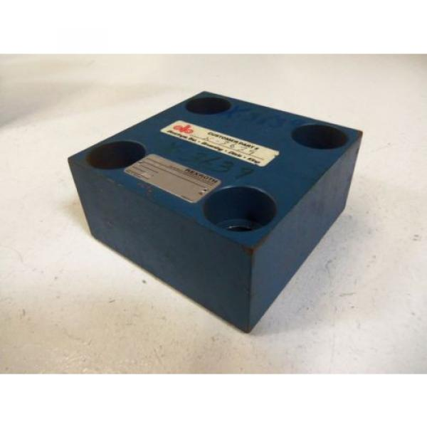 REXROTH HYDRAULIC VALVE LFA 40D-62/F AS PICTURED  USED #4 image