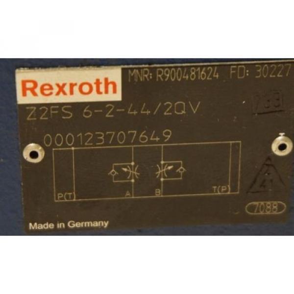 Origin REXROTH Z2FS 6-2-44/2QV FLOW CONTROL VALVE Z2FS6244/2QV #2 image
