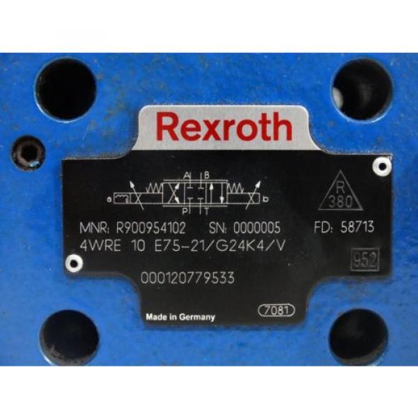 Rexroth R900954102 Proportional valve 4WRE10E75-21/G24K4/V #4 image