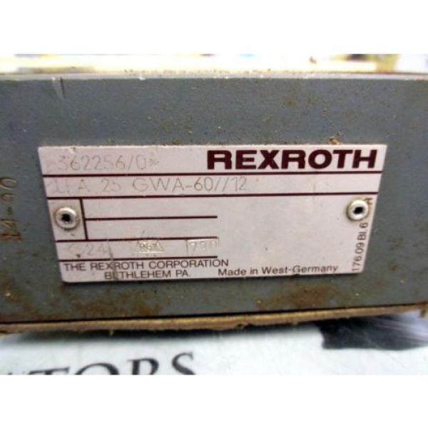 REXROTH LFA 25 GWA-60/12 HYDRAULIC VALVE MANIFOLD #2 image