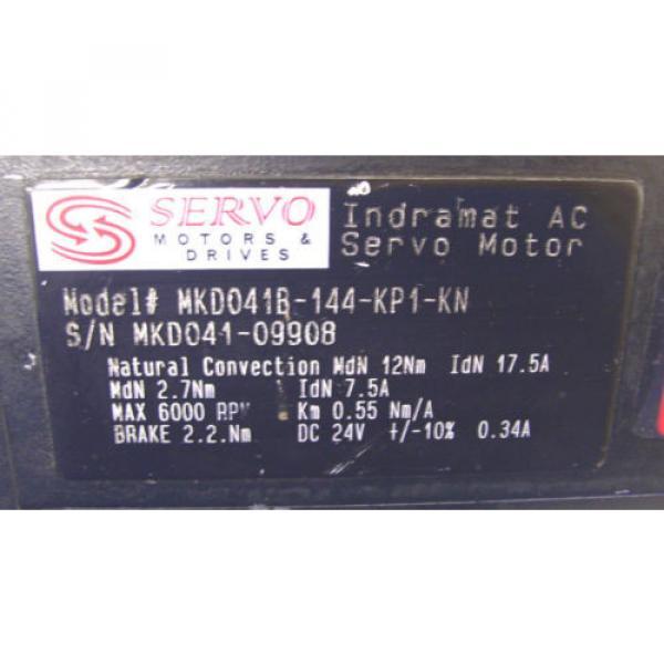 INDRAMAT Singapore USA REXROTH   AC SERVO MOTOR  MKD041B-144-KP1-KN    60 Day Warranty! #4 image
