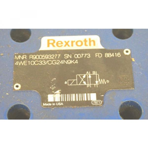 Origin REXROTH 4WE10C33/CG24N9K4 DIRECTIONAL CONTROL VALVE R900593277 #2 image