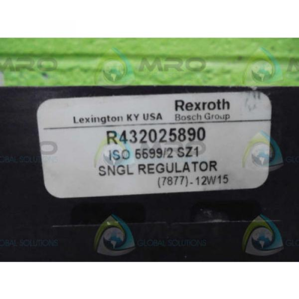 REXROTH China Italy R432025890 SNGL REGULATOR  *NEW AS IS* #1 image