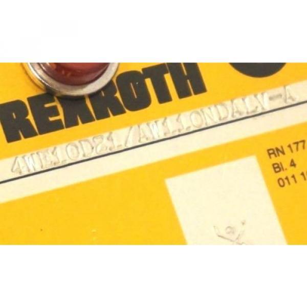 Origin REXROTH 4WE10D21/AW110NDALV-A DIRECTIONAL VALVE WH70-0-A 439 #2 image