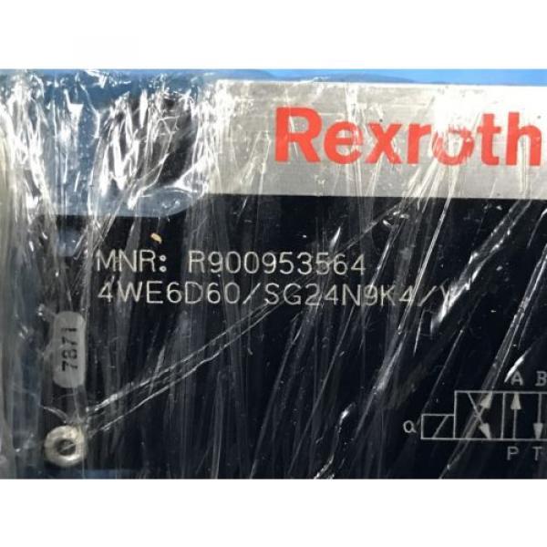 USED BOSCH REXROTH R90095356 DIRECTIONAL CONTROL VALVE 4WE6D60/SG24N9K4/Y U4 #4 image