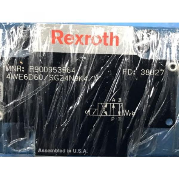 USED BOSCH REXROTH R90095356 DIRECTIONAL CONTROL VALVE 4WE6D60/SG24N9K4/Y U4 #5 image