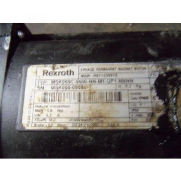 REXROTH Australia Japan MSK050C-0600-NN-M1-UP1-NNNN PERMANENT MAGENT MOTOR *USED* #5 image