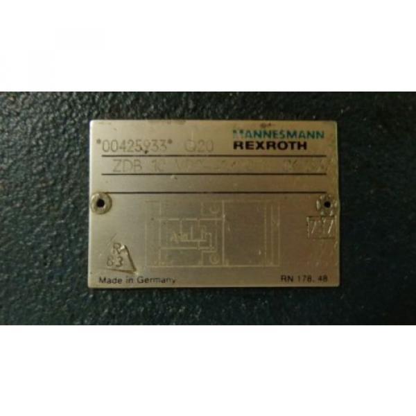 MANNESMANN REXROTH HYDRAULIC VALVE ZDB 10 VP2-41/200V PT020 #2 image