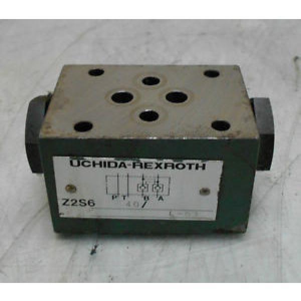 Uchida-Rexroth Hydraulic Check Valve, Z2S6 40, Used, WARRANTY #1 image