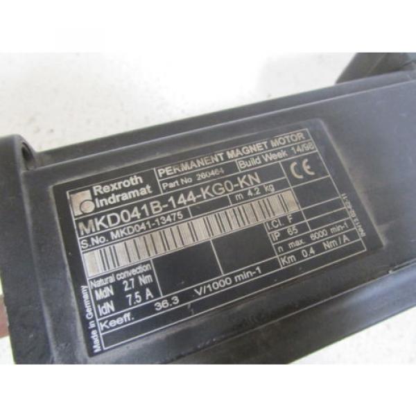 REXROTH USA Australia SERVO MOTOR MKD041B-144-KG0-KN (RUST) *USED* #3 image