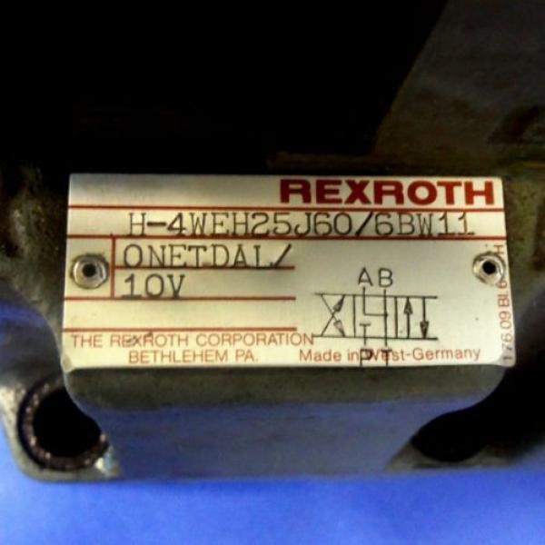 REXROTH 120VOLTS 50/60HZ DIRECTIONAL CONTROL VALVE 4WE6J52/BW110NDALV #3 image