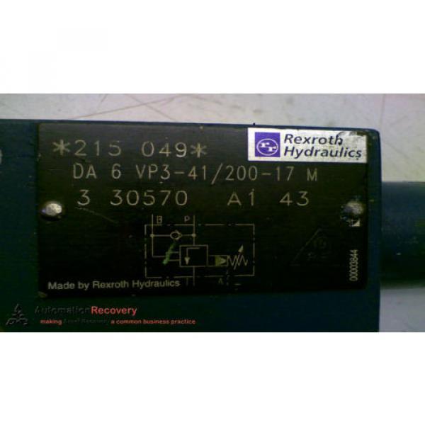 REXROTH DA 6 VP3-41/200-17 M HYDRAULIC VALVE #147826 #2 image