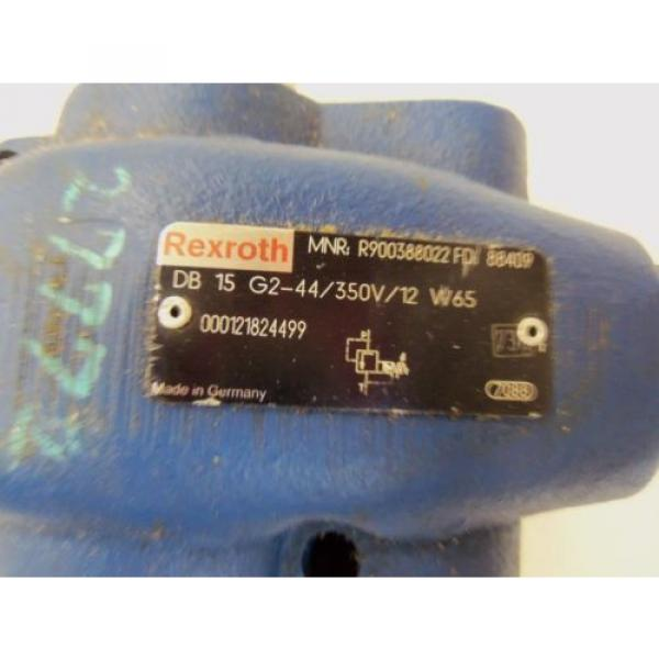 REXROTH Italy Greece DB 15 G2-44/350V/12 W65 VALVE RELIEVE PILOT OPERATED R900388022 *USED* #2 image