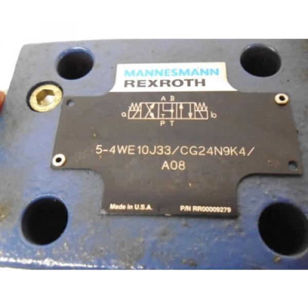REXROTH 5-4WE10J33/CG24N9K4/A08 HYDRAULIC VALVE RR00009279 Origin NO BOX #4 image