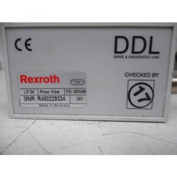 USED Rexroth R480229334 DDL LP04 Series Valve Terminal System Module 0820062101 #3 image