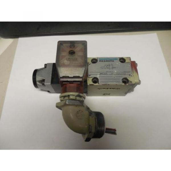 REXROTH SOLENOID VALVE 4WE6D51/AW110N9Z55L w/ WU35-4-A 304 #1 image