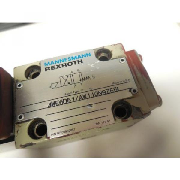 REXROTH SOLENOID VALVE 4WE6D51/AW110N9Z55L w/ WU35-4-A 304 #2 image