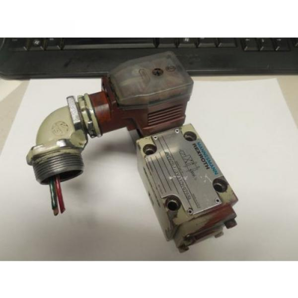 REXROTH SOLENOID VALVE 4WE6D51/AW110N9Z55L w/ WU35-4-A 304 #3 image