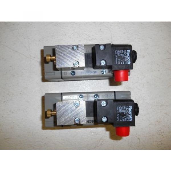 BOSCH REXROTH 1824210223 VALVES, PE MAX 10 BAR, 48V, 24 VDC, LOT OF 2, Origin #4 image