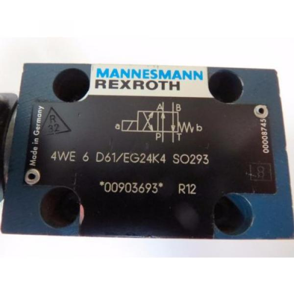 Mannesmann Rexroth 4WE 6 D61/EG24K4 SO293 Hydraulic Directional Valve 350bar #4 image